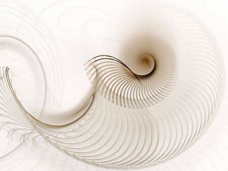 threaded: Layered, threaded spiral  (computer generated, fractal abstract background) Stock Photo