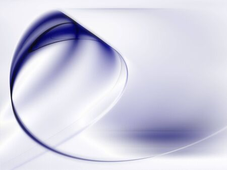 Dark blue curl (computer generated, fractal abstract background) Stock Photo