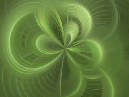 smudge: Curving weave of green (computer generated, digital abstract background) Stock Photo