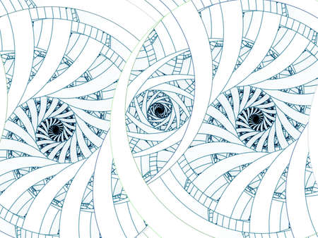threading: Three spirals in threading design (computer generated, fractal abstract background)