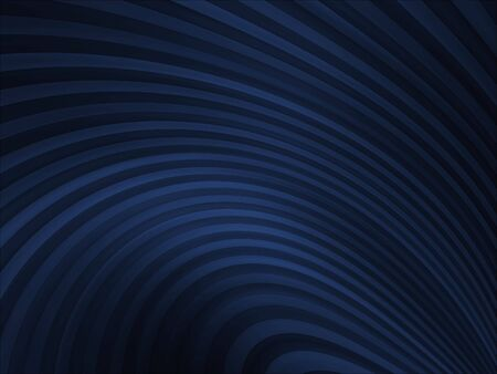 Shaded blue, thin curving stripes (computer generated, digital abstract background)