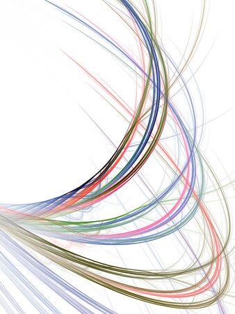 arching: Colorido arqueo, enredos de hilos (generada por ordenador, fractales resumen de antecedentes)  Foto de archivo