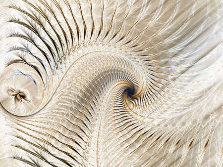threaded: Sofly shaded, threaded spiral (computer generated, fractal abstract background) Stock Photo