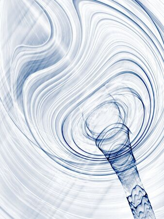 funnel: Gray blending textures and vortex (computer generated, fractal abstract background)