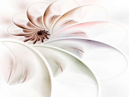 Gelaagd spiraalvormig effect (geproduceerde computer, fractal abstracte achtergrond)