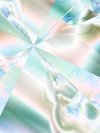 slanted: Pastel wedges against blended slanted textures (fractal abstract background) Stock Photo