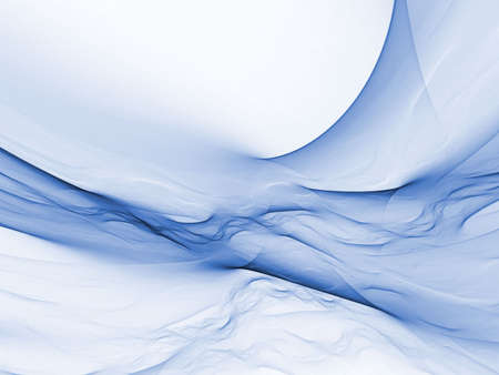 Liquid impression, flowing blues (computer generated, fractal abstract background) Фото со стока
