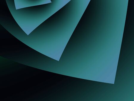 Shaded dark green fanning angular shape (fractal abstract background) 版權商用圖片
