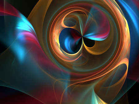 chaos: Bright flowing colors from circular chaos (fractal abstract background)