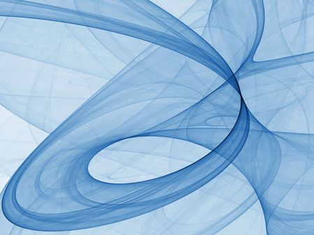 Flowing, curving digital fabric of light blue (fractal abstract background)