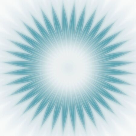 pointed: Surreal blue pointed starburst shape (fractal abstract background)