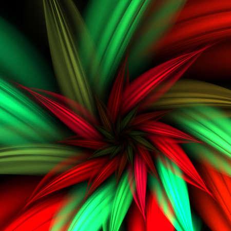 petal: Beautiful poinsettia flower petal design (fractal abstract background) Stock Photo