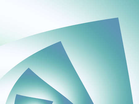 Shaded green fanning angular shape (fractal abstract background)