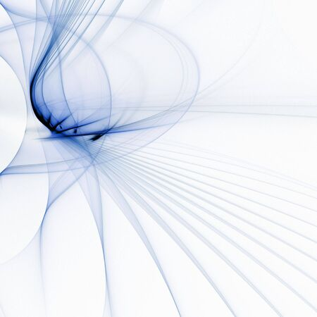 sheer: Sheer, fanning flows of blue (fractal abstract background) Stock Photo
