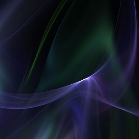sheer: Flowing, softly illuminated sheer fabrics of color - fractal abstract background Stock Photo