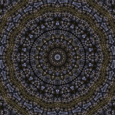 Intricate, circular kaleidoscopic design   (digital abstract background) photo