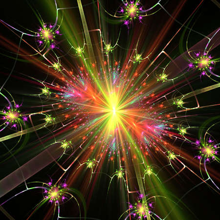 streaking: Festive, bright colorful blends of streaking textures - fractal abstract background