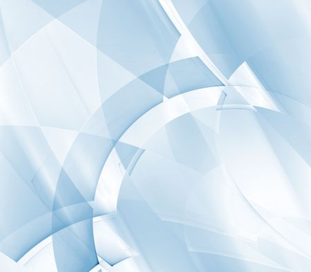arching: Light blue blends of arching patterns - fractal abstract background