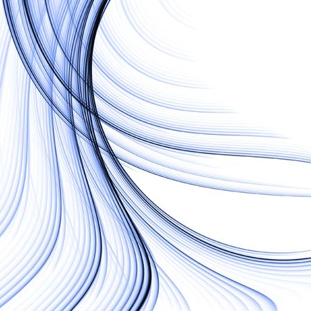 Blue woven, fibrous texture in flow - fractal abstract background photo