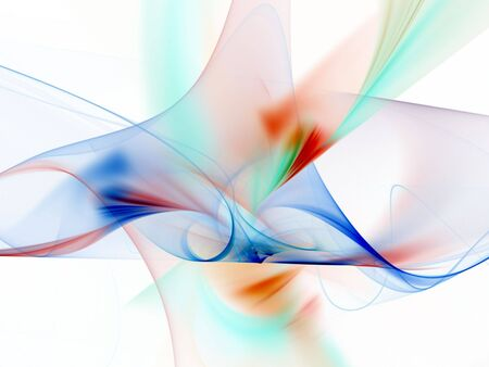 Bright, colorful flowing form - fractal abstract background