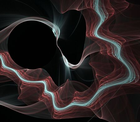 Curving, rippling lines and textures - fractal abstract background Stock Photo