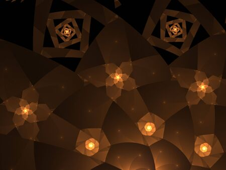 Flowing golden browns into shapes - fractal abstract background photo