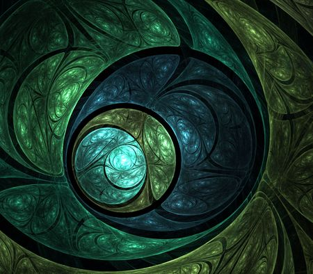Layered textures in circular effect - fractal abstract background photo