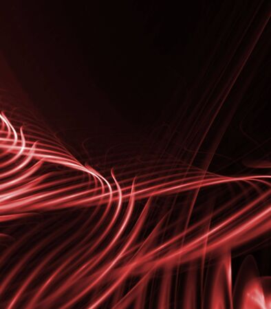 streaks: Flowing streaks of tangled reds - fractal abstract background Stock Photo