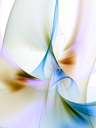 Flowing, tangling colorful textures - fractal abstract background