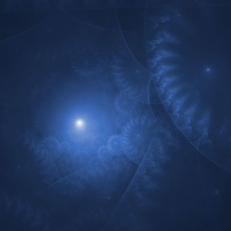 Dreamy blue texture blends - fractal abstract background