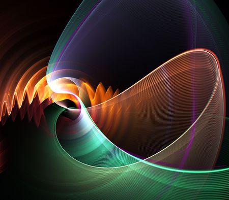 しわ、および fanning カラフルな線維性テクスチャ - フラクタル抽象的な背景