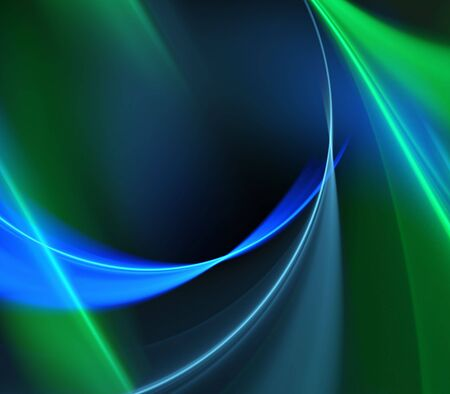 Bright, blue green streaming textures - fractal abstract background
