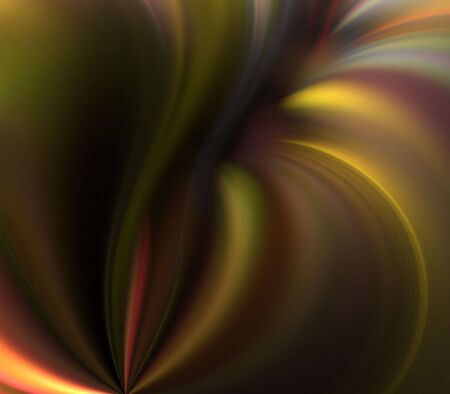 Flowing, softly blurred golden textures - fractal abstract background Фото со стока