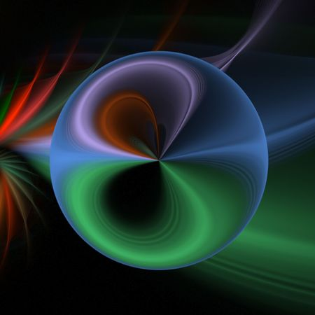 Multicolored orb shape and textures - fractal abstract background Zdjęcie Seryjne
