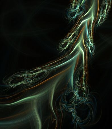 branching: Branching color in movement - fractal abstract background