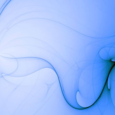 radiate: Flowing blue design - fractal abstract background