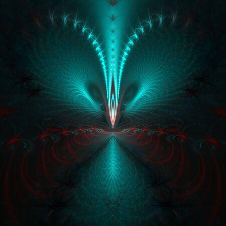 赤の強化された明るい緑テクスチャ スレッド ソフトグロー - フラクタル抽象的な背景のすべてのテクスチャ