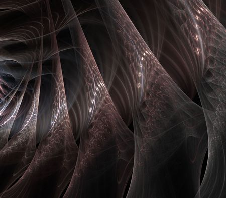 gauzy: Gauzy, silk effect layers of flowing textures - fractal abstract background