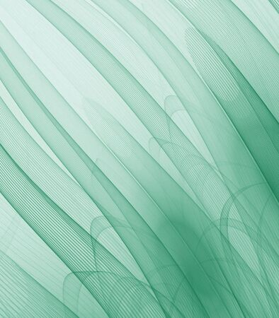 gauzy: Green tubes, flowing - fractal abstract background