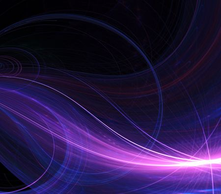 Colorful threaded energy beam effect - fractal abstract background  Stock Photo