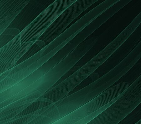 Green tubes, flowing - fractal abstract background