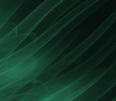 Groene buizen, flowing - fractal abstract achtergrond