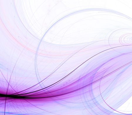Colorful threaded energy beam effect - fractal abstract background