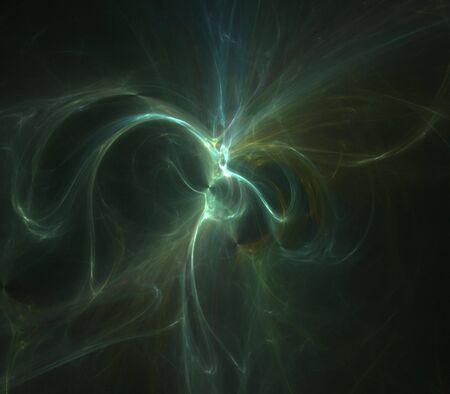 Softly glowing, tangled textures of green - fractal abstract background Zdjęcie Seryjne