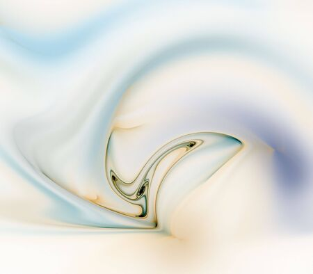 blend: Silky flowing, surreal texture - fractal abstract background Stock Photo