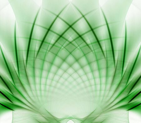 Softly shaded, woven, fanning leaf shape - fractal abstract background Imagens