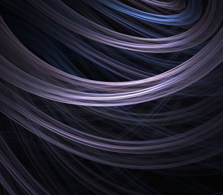 Colorful, pastel ribbon layers - fractal abstract background