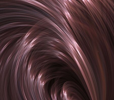 silken: Curving, flowing arches of silken textures - fractal abstract background Stock Photo