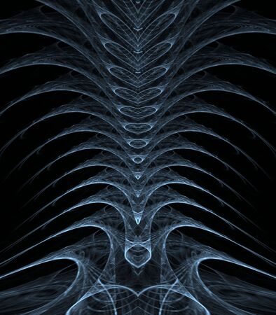 stacked: Stacked, spiny textures in vertebrae effect - fractal abstract background