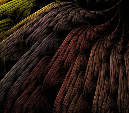 earthy: Earthy colorful, layered texture design  - fractal abstract background Stock Photo